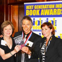 NEW YORK: JAMES ACCEPTS THIRD GOLD MEDAL FOR DEPARTMENT THIRTEEN AT THE 2012 INDIE BOOK AWARDS AT THE FAMED PLAZA HOTEL